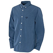 Fred Perry End On End Long Sleeve Shirt Junior