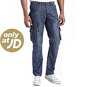 Eto Cargo Pocket Mid Wash Jeans