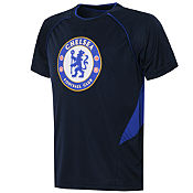 Official Team Chelsea Poly T-Shirt Childrens