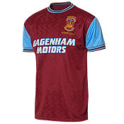 Score Draw West Ham United Home 1994 No.6 Retro Shirt