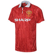 Score Draw Manchester United 1994 Home Retro F.A Cup Shirt