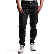 Eto Self Cuff Coated Jeans