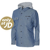 Carbrini Chambray Hooded Shirt