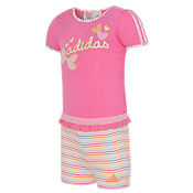 adidas Girls Dress and Shorts Suit Infants/Childrens