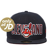 New Era MLB Cleveland Indians Bevel Pitch Fitted Cap