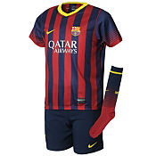 Nike Barcelona 2013/14 Home Childrens Kit