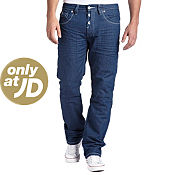 Gio-Goi Demo DS Petrol Wash Short Leg Jeans