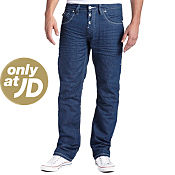 Gio-Goi Demo Petrol Wash Long Leg Jeans